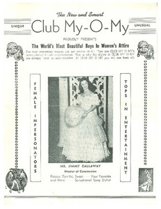 The New and Smart Club My-O-My Proudly Presents The World's Most Beautiful Boys in Women's Attire (1951)
