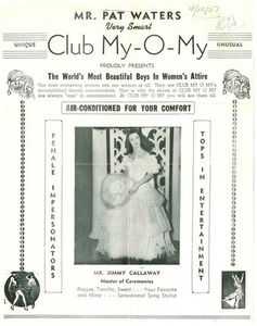 Mr. Pat Waters Very Smart Club My-O-My Proudly Presents The World's Most Beautiful Boys in Women's Attire (April 12, 1951)