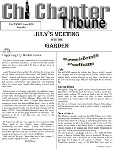 Chi Chapter Tribune Vol. 37 Iss. 06 (June, 1998)