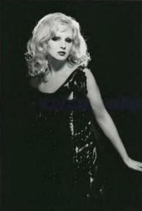 Candy Darling Posing in a Dress