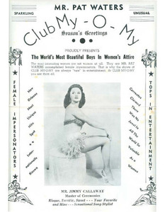 Mr. Pat Waters Club My-O-My Proudly Presents The World's Most Beautiful Boys in Women's Attire (7)