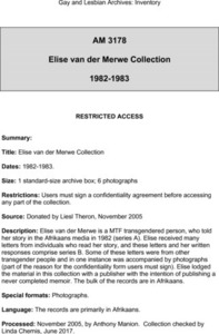 Elise van der Merwe Collection