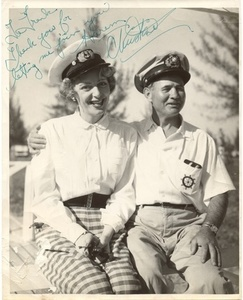 Christine Jorgensen with Frank in Naval Attire