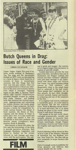 Butch Queens in Drag: Issues of Race and Gender