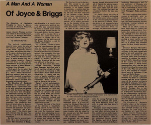 A Man and a Woman of Joyce & Briggs