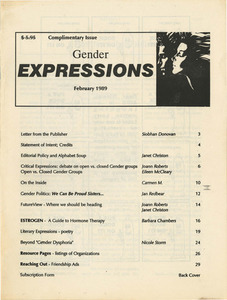 Gender Expressions Vol. 1 Issue 1 (February 1989)