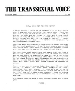 The Transsexual Voice (December 1991)