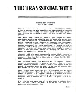 The Transsexual Voice (August 1993)