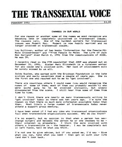 The Transsexual Voice (February 1992)