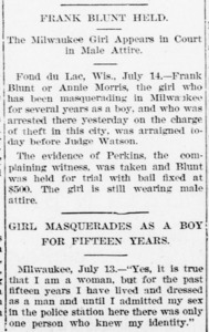 The Milwaukee Girl Appears in Court in Male Attire