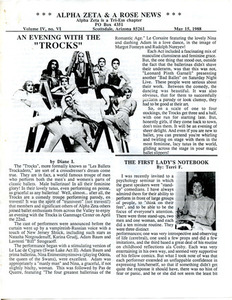 Alpha Zeta & A Rose News Vol. 4 No. 6 (May 15, 1988)