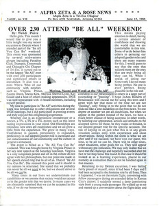 Alpha Zeta & A Rose News Vol. 4 No. 7 (June 15, 1988)