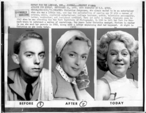 Photo Series of Christine Jorgensen at Various Ages