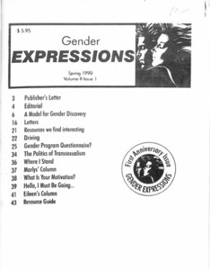 Gender Expressions Vol. 2 No. 1 (Spring 1990)