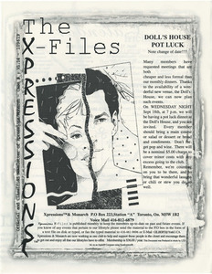 The Xpressions X-Files Newsletter Vol. 1 No. 14