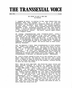 The Transsexual Voice (June 1992)