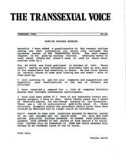 The Transsexual Voice (February 1994)