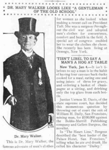"""Dr. Mary Walker Looks Like """"A Gentleman of the Old School"""""""