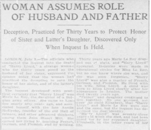 Woman Assumes Role of Husband and Father