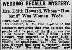 Wedding Recalls Mystery