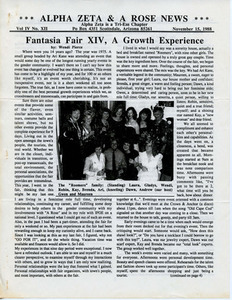 Alpha Zeta & A Rose News Vol. 4 No. 12 (November 15, 1988)