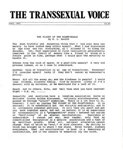The Transsexual Voice (April 1992)