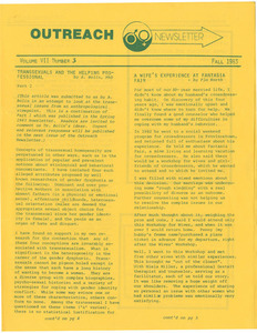 The Outreach Newsletter Vol. 7 No. 3 (Fall 1983)