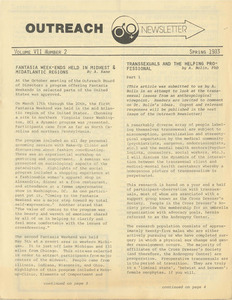 Outreach Newsletter Vol. 7 No. 2 (Spring 1983)
