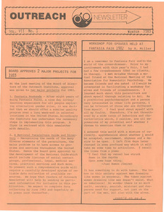 The Outreach Newsletter Vol. 7 No. 1 (Winter 1983)
