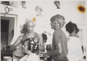 Kewpie and Patti doing Sue Thompson's Hair