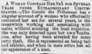 A Woman Conceals Her Sex