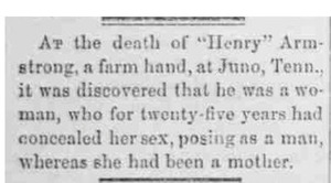 "Death of ""Henry"" Armstrong"