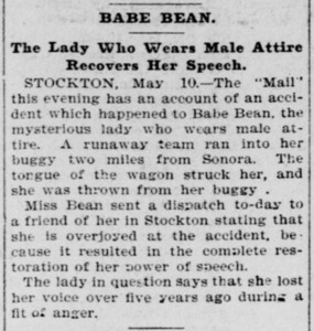 Babe Bean: The Lady who Wears Male Attire Recovers her Speech