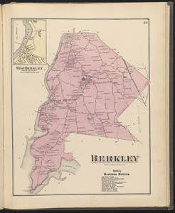 Map of the town of Berkley