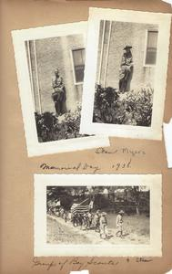 Photographs of Stan Myers in his Boy Scout uniform taken May 1938.