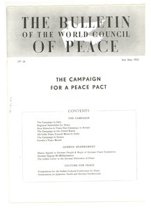 Bulletin of the World Council of Peace, number 24