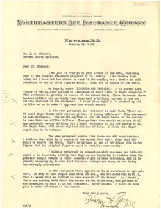 Letter from Harry H. Pace to James E. Shepard