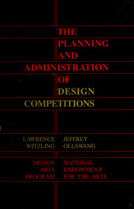 The Planning and administration of design competitions