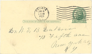 Letter from Sadie Shepperd to W. E. B. Du Bois