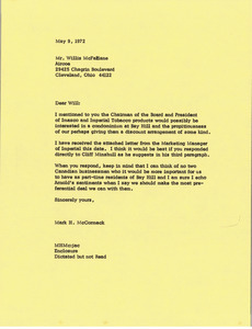 Letter from Mark H. McCormack to Willis McFarlane
