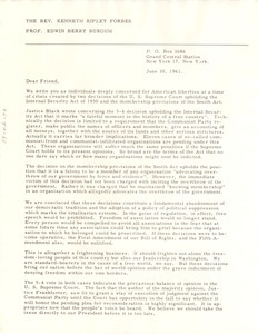 Circular letter from Kenneth Ripley Forbes and Edwin Berry Burgum to W. E. B. Du Bois
