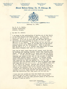 Letter from Archie L. Weaver to W. E. B. Du Bois