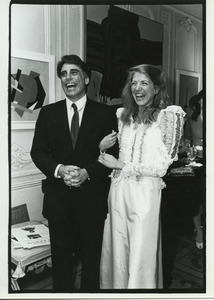 Andrew Stein and Lynn Forester laughing