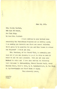 Letter from W. E. B. Du Bois to Adelaide Casely-Hayford