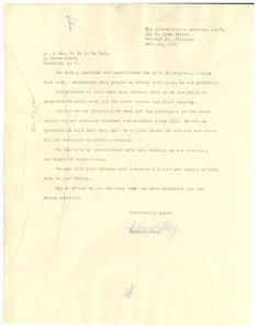 Letter from Afro-American Heritage Association to W. E. B. Du Bois