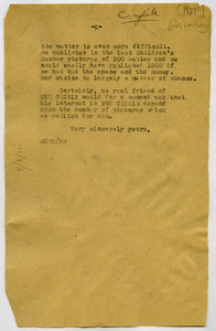 Letter from W. E. B. Du Bois to unidentified correspondent [fragment]