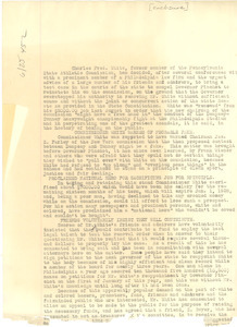 Account of Charles Fred White's term in public office