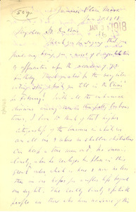 Letter from Charles F. Dole to W. E. B. Du Bois