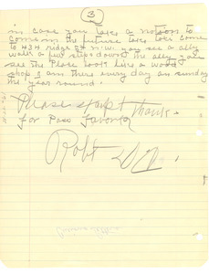 Letter from Robert to unidentified correspondent