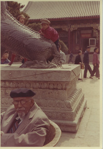 W. E. B. Du Bois sitting in the Summer Palace in Beijing, China